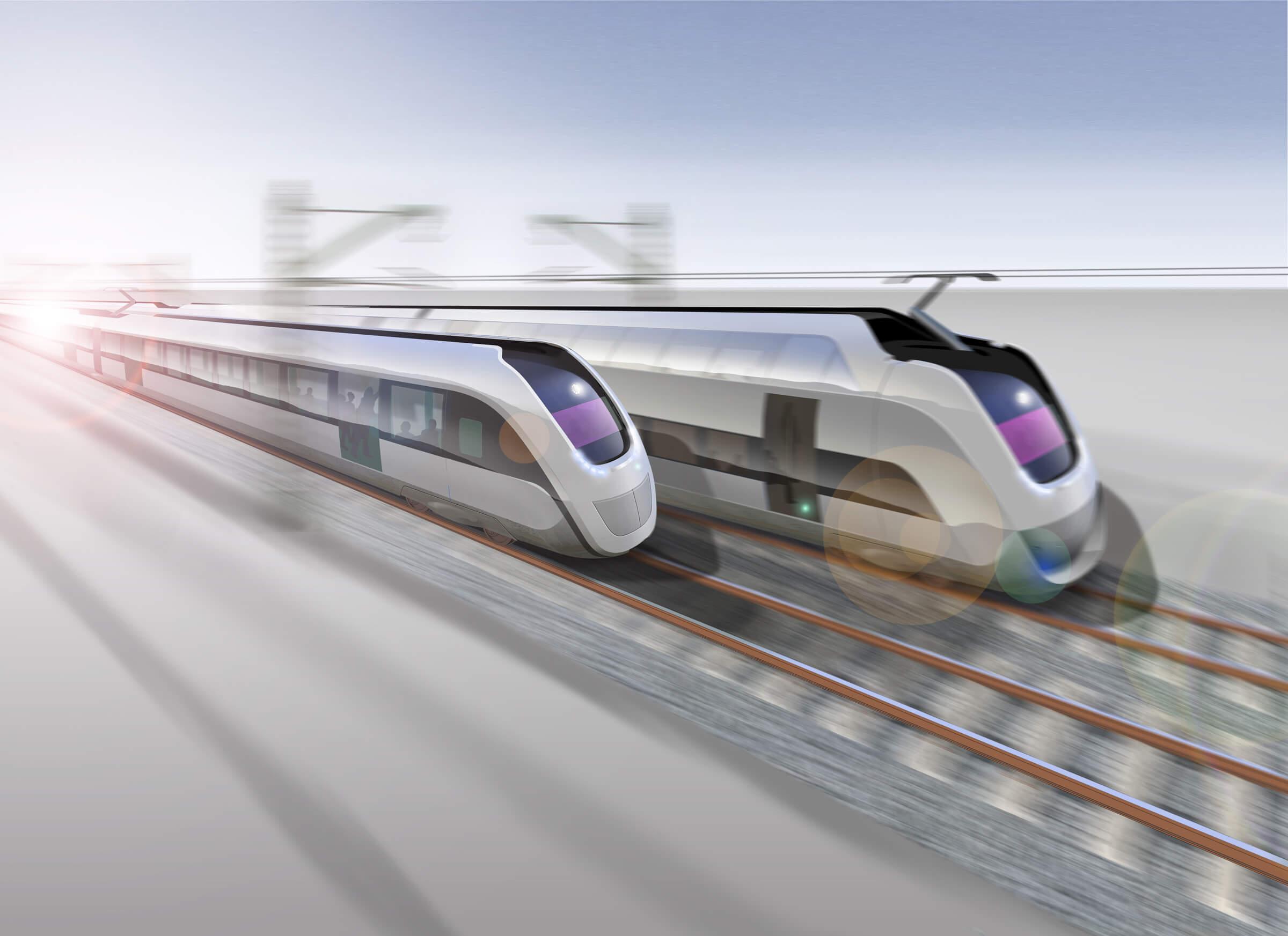 Duurzame trein artist impression 2025