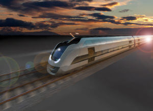 Sustainable train 2025 Intercity interior artist impression