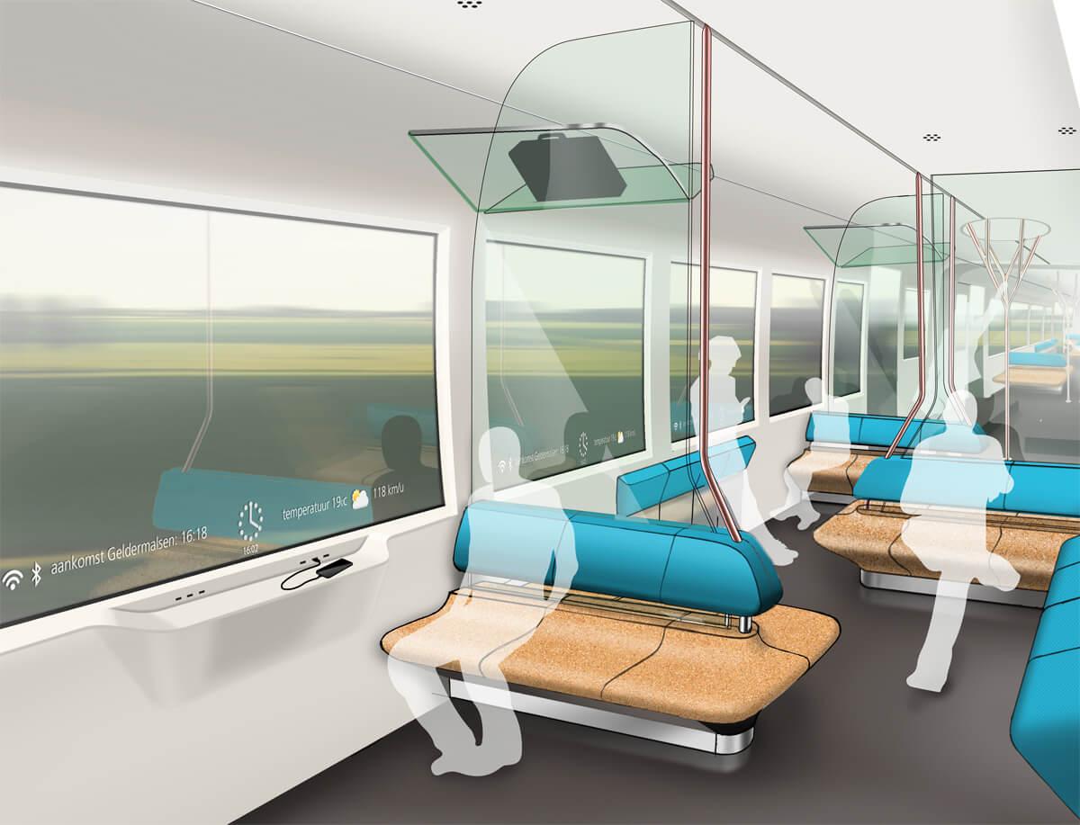 Duurzame trein 2015 artist impression interieur