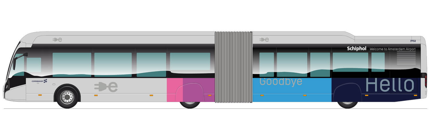 Schiphol Citea bus illustration