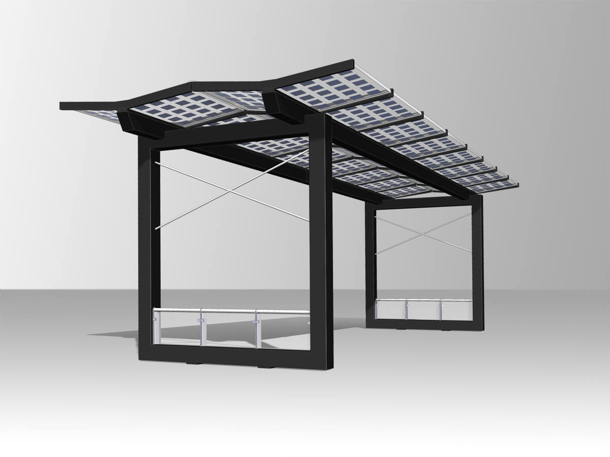 Gate with solarpanels