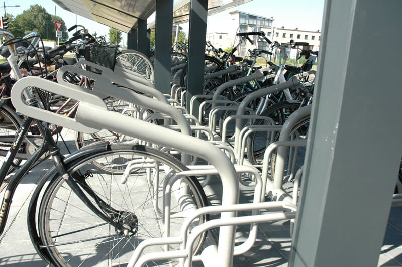 R-Net bicyble parking shelter detail