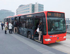 R-Net bus at busstop