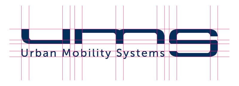 UMS logo in stramien