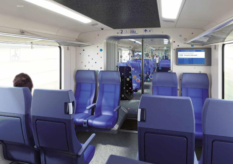 NS interieur concept blauw