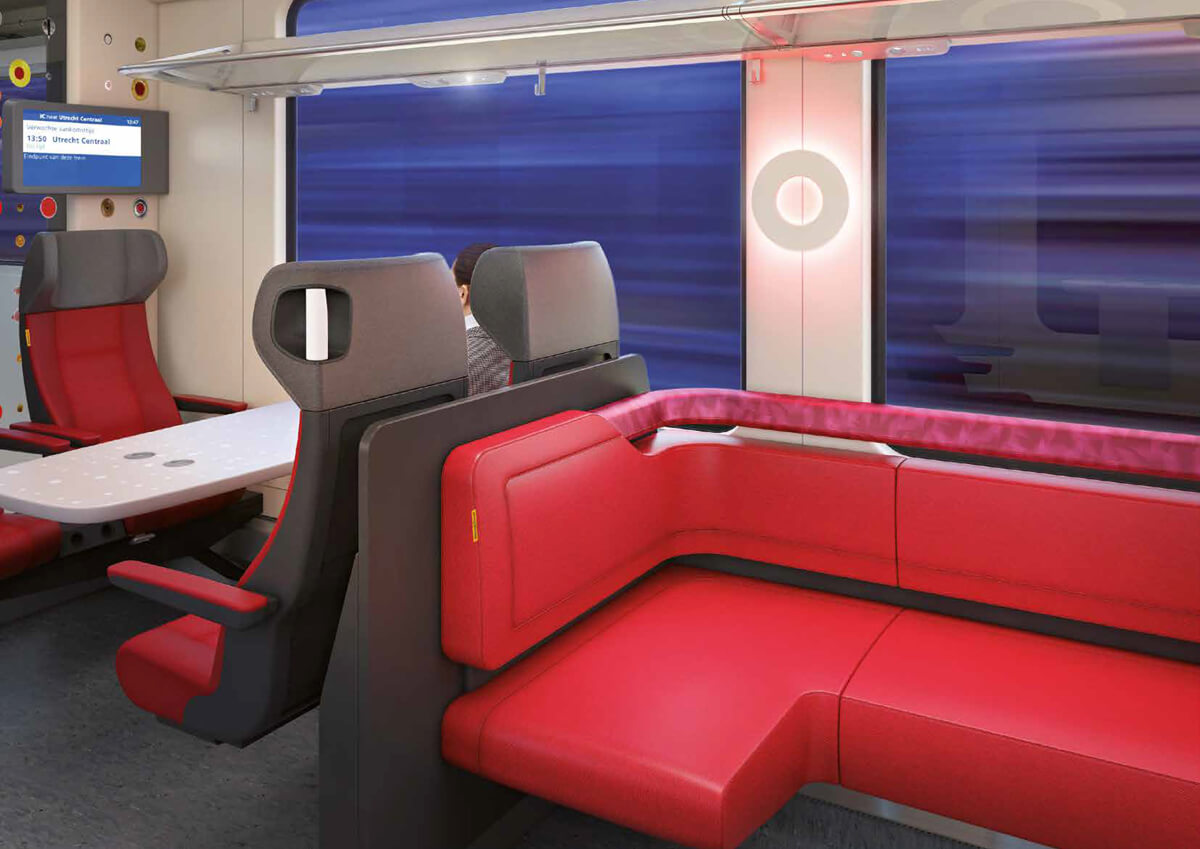 NS intercity table concept render