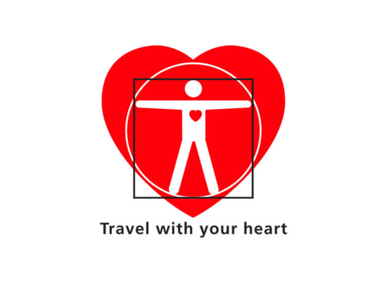 Travel with your heart logo