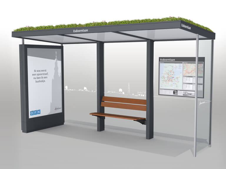 Sustainable bus shelter