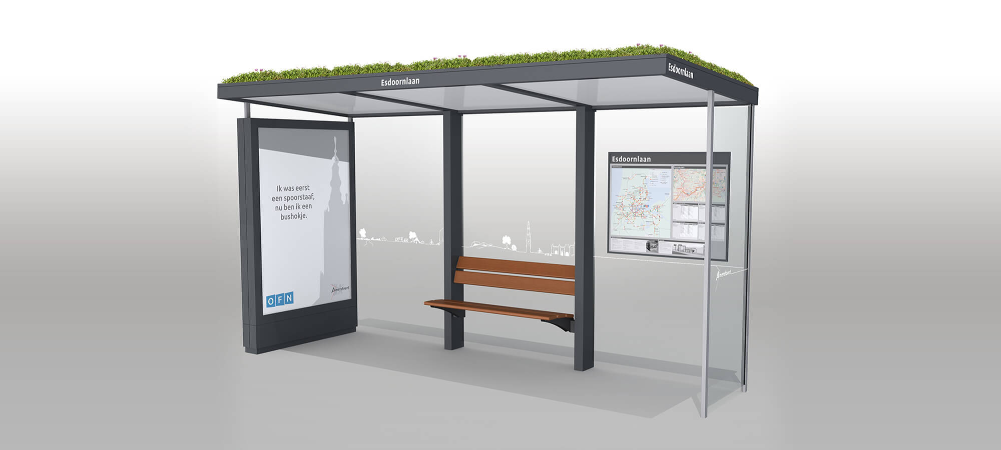Sustainable bus shelter Amersfoort