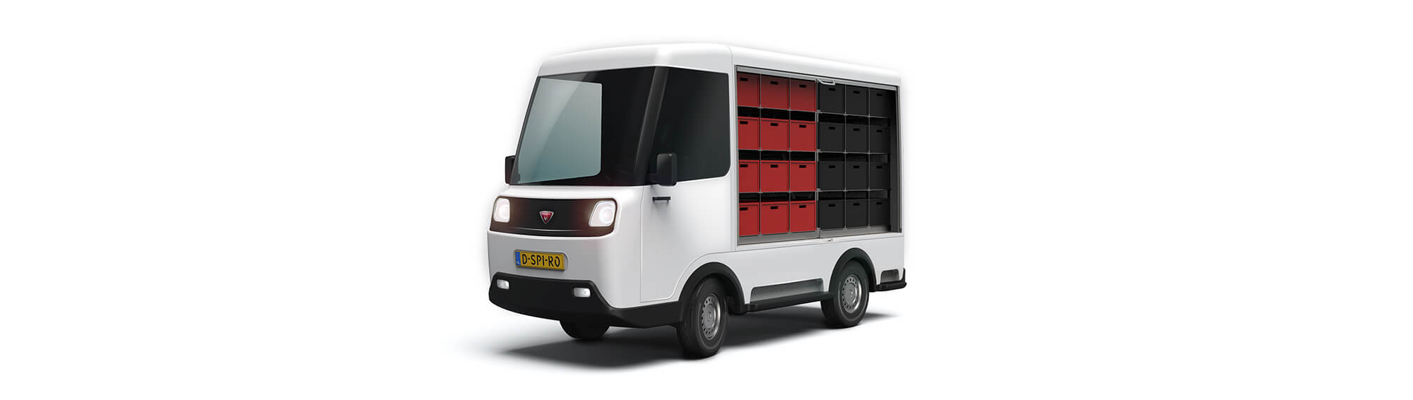 David Spiro Electric delivery van_side open