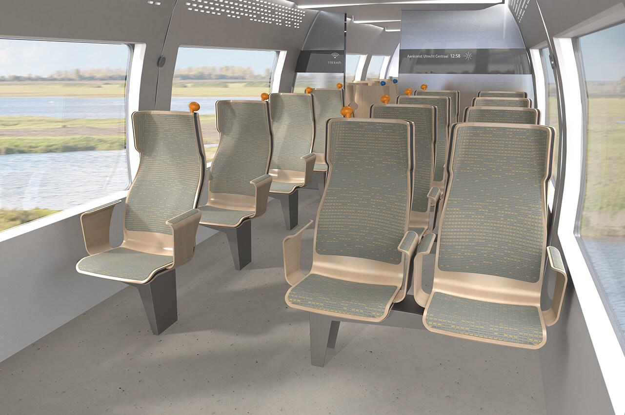 Duurzaam trein interieur 1e klasse